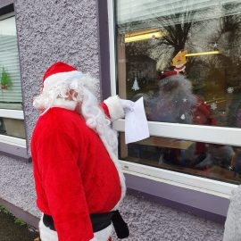 Santa came to Collinstown School